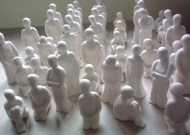 'The Gathering' series x300 castings, ready for the public to personalize throughout exhibition