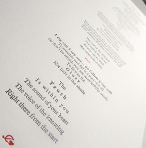 The Call - Letterpress Poem
