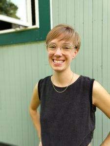 Ellen Currin (woman with glasses, web developer in detroit)