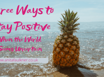 Header image for blog post - stay positive
