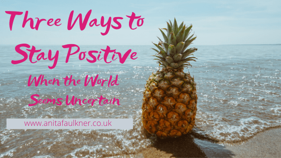 Header image for blog post - stay positive
