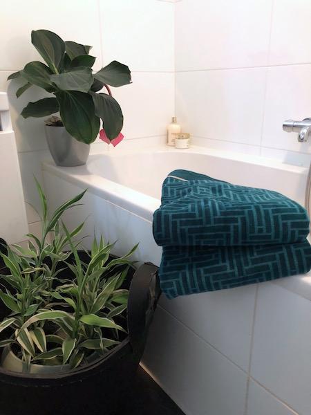 'groen' in de badkamer
