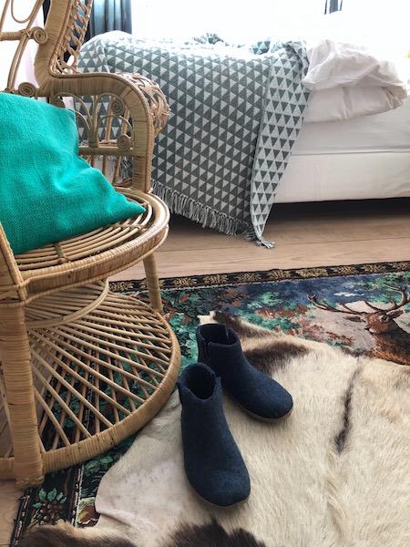 winterklaar met pantoffels