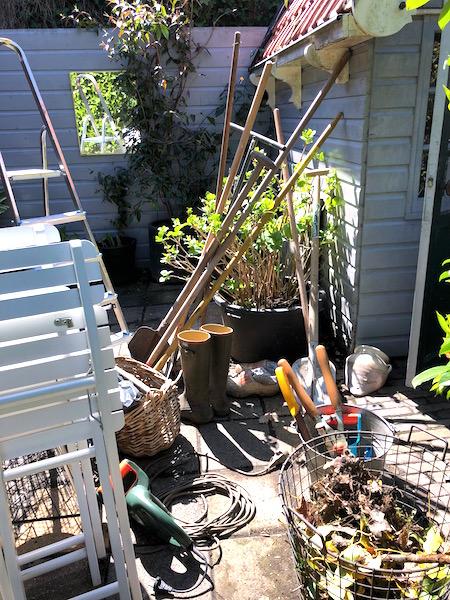 achtertuin schuur