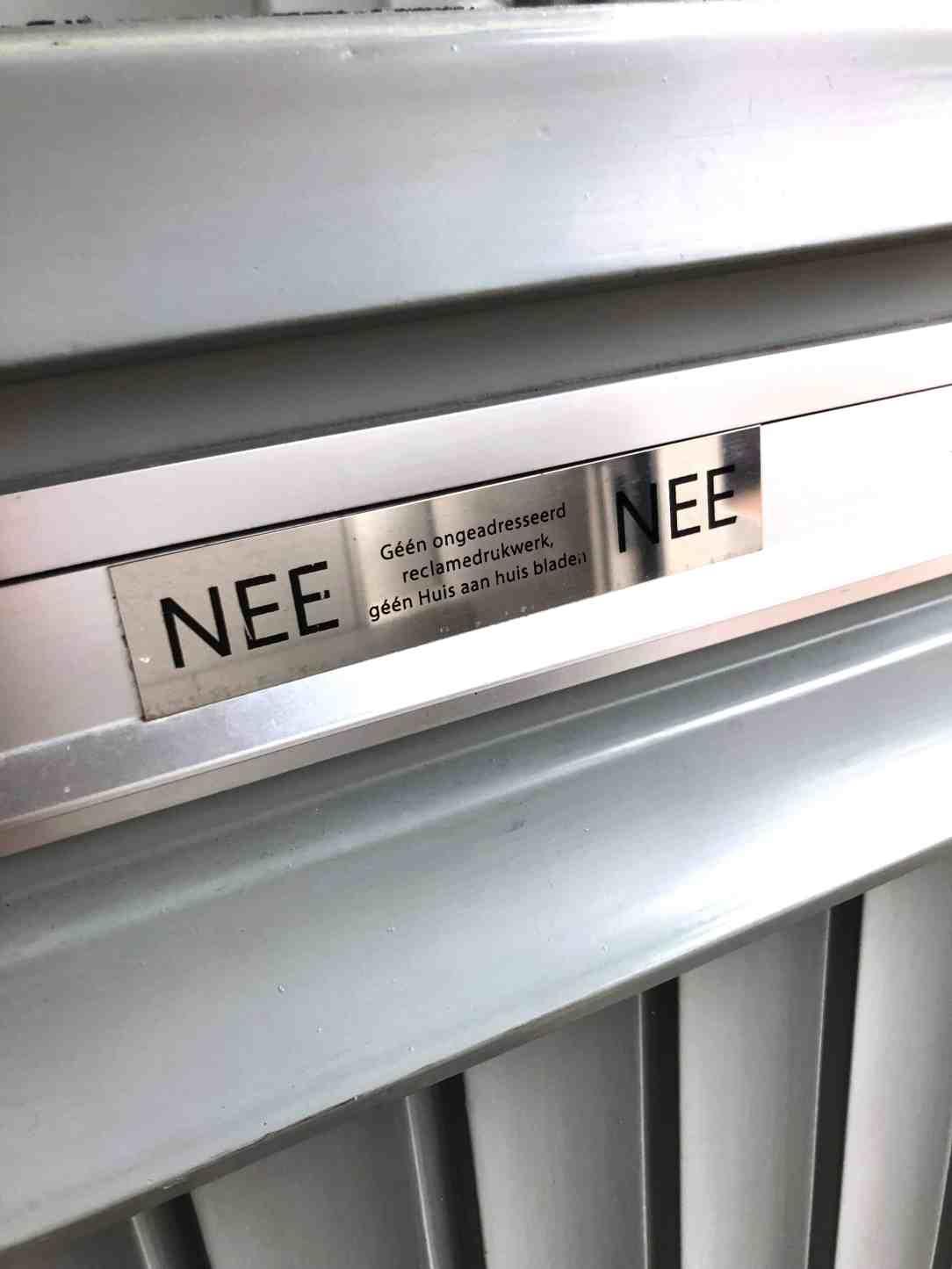 opgeruimd huis-nee/nee sticker
