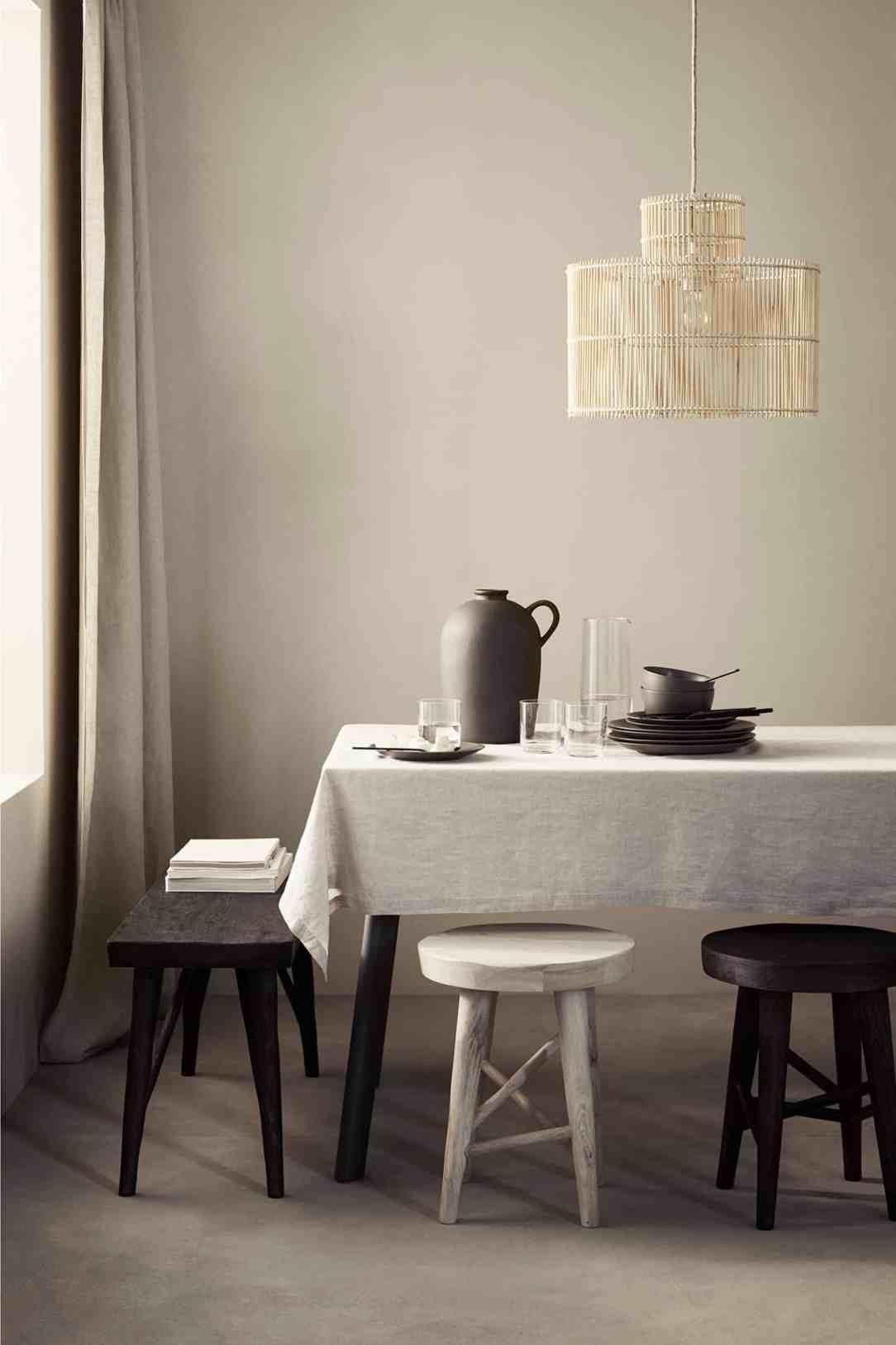 H&M plafondlamp bamboe