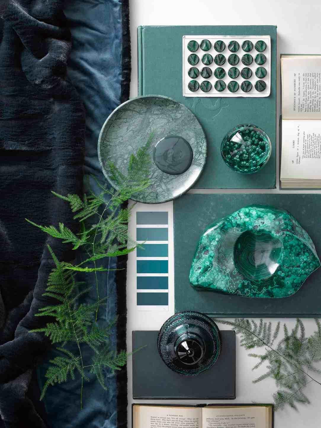 Moodboard kleur groen