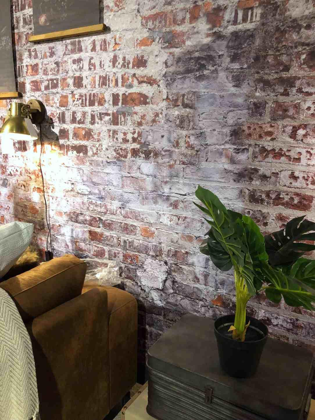 behang bakstenen muur