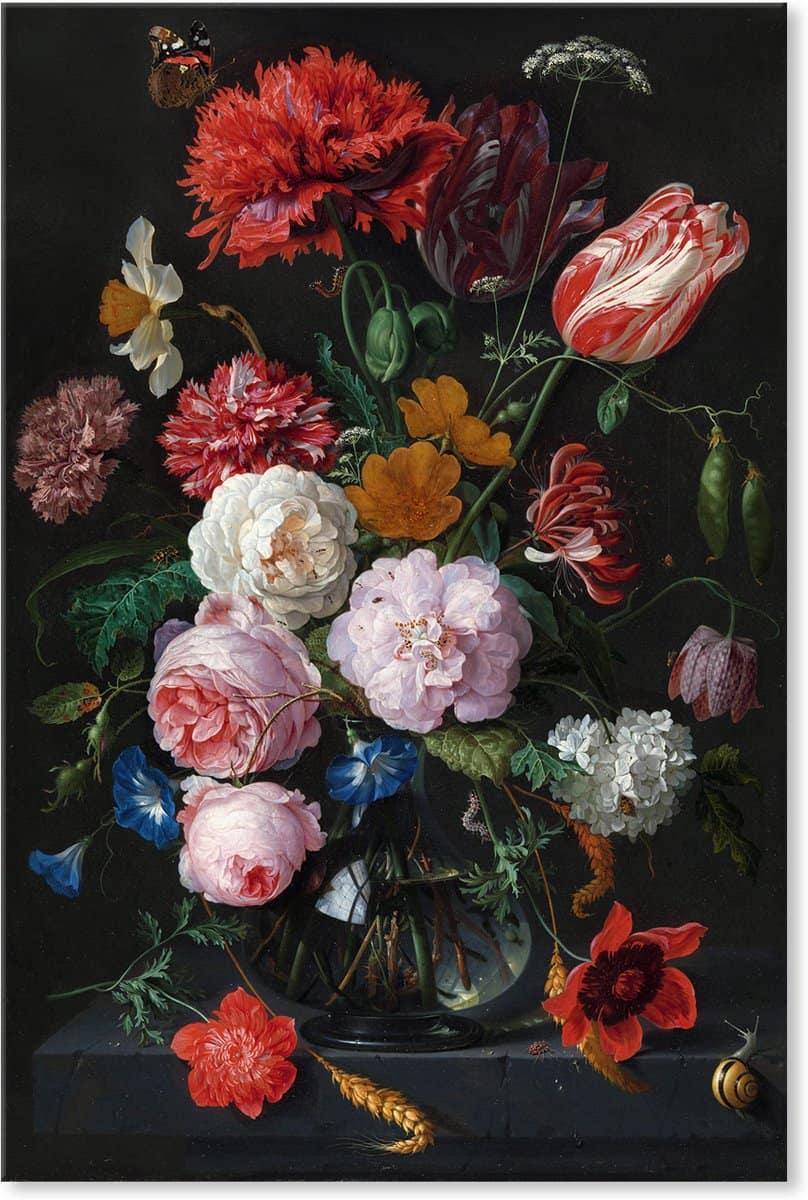 canvas schilderij met bloemen