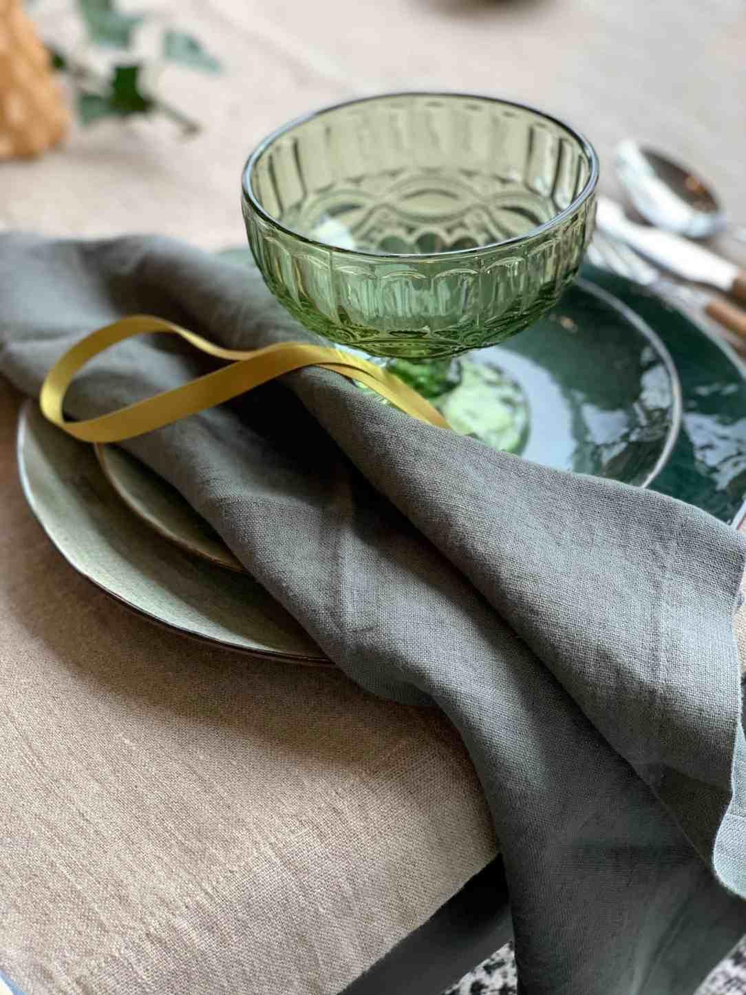 Groen glaswerk Kerst