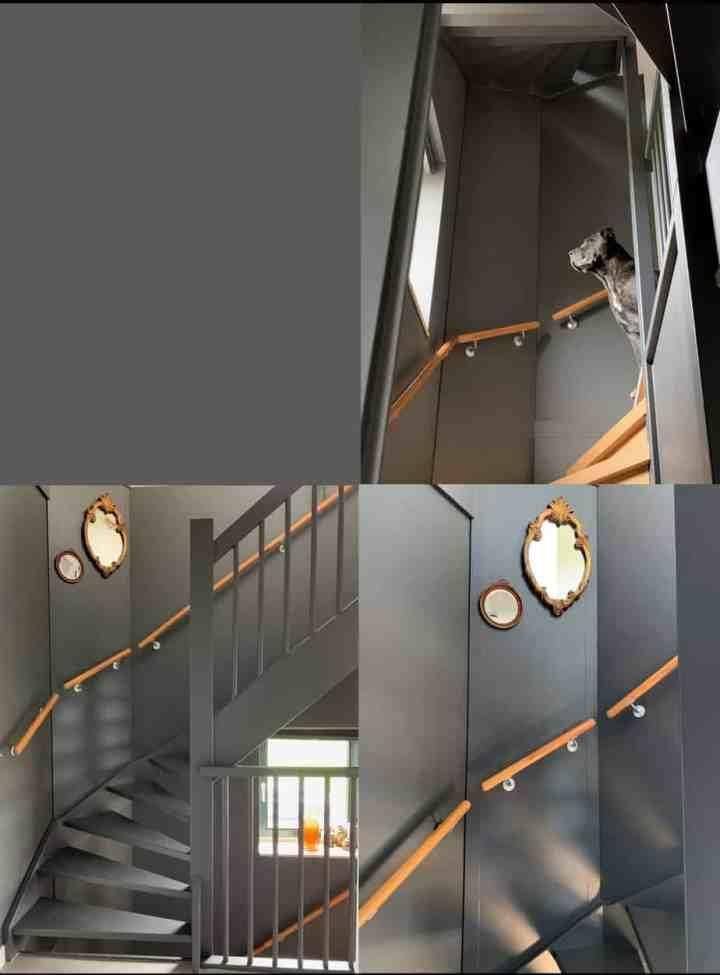 kleur in huis/ industrial grey