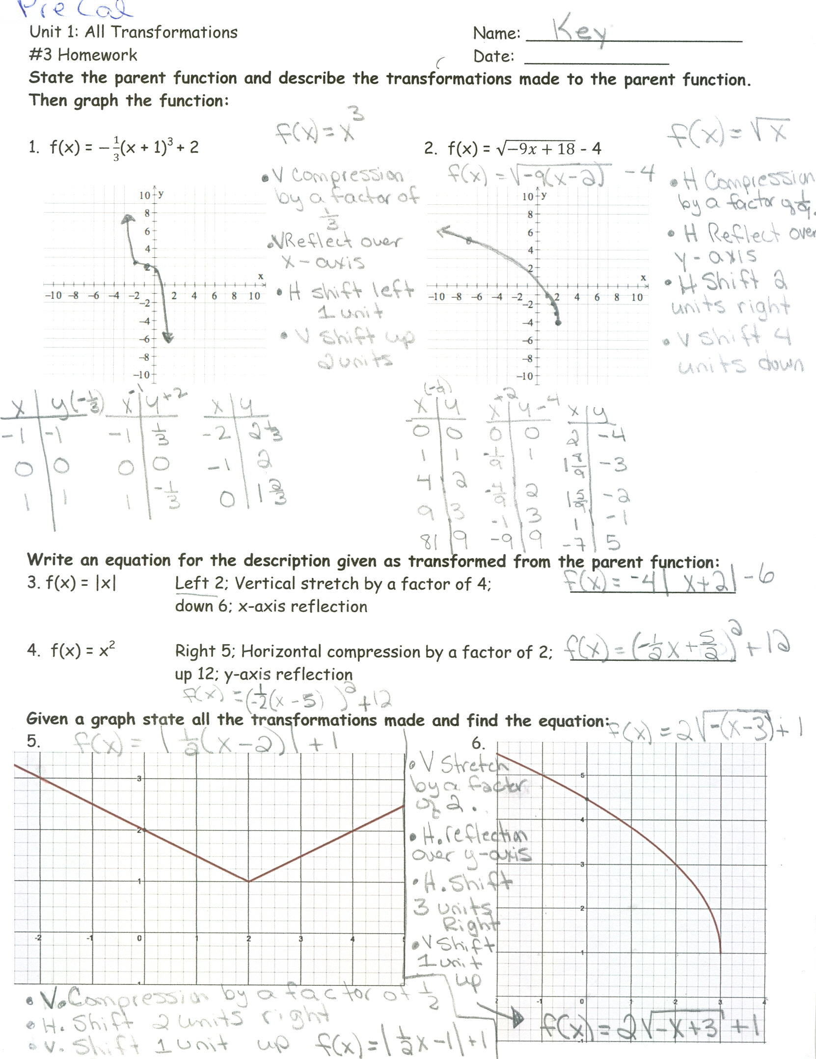 Homework Piecewise Functions Worksheet 1 8