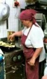 Rosie cooking