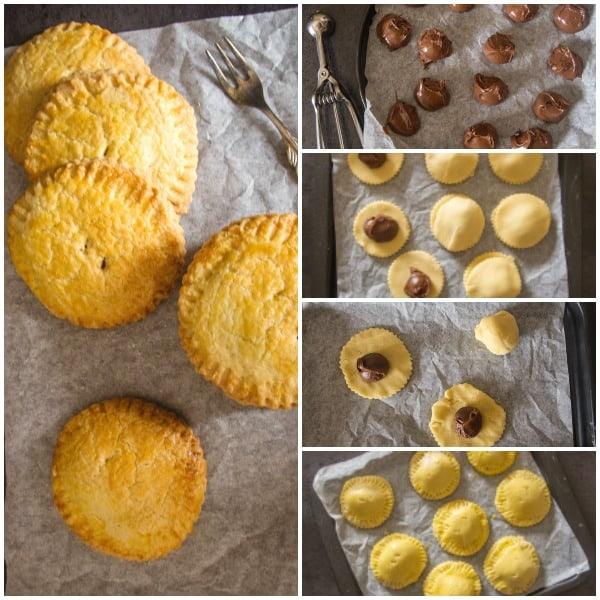 5 how to photos of Italian hazelnut cream hand pies