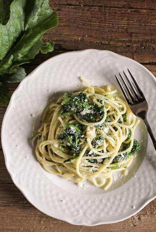 Pasta and Broccoletti (broccoli rabe)
