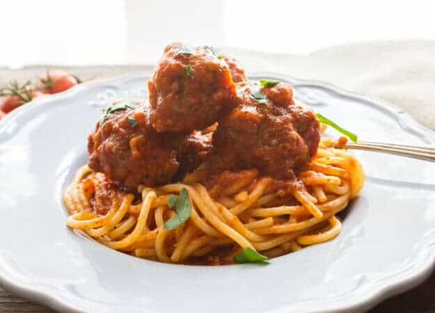 The best and most delicious authentic homemade Italian recipe. Meatballs in a tasty tomato sauce. Dinner is ready!