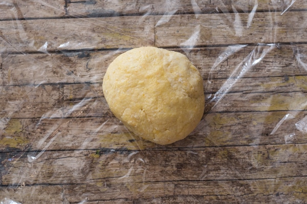 castagnole dough kneaded into a soft dough before resting