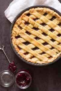 Jam Filled Crostata Italian Pie, a delicious fast and easy dessert or snack recipe, this delicate flaky crust is filled with your choice of Jam.