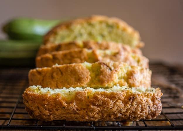 slices of zucchini bread