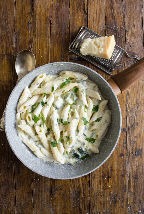 Zucchini Cream Cheese pasta