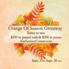 change of season giveaway