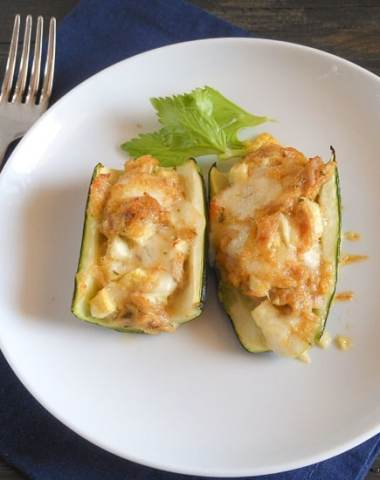 zucchini stuffed with tuna