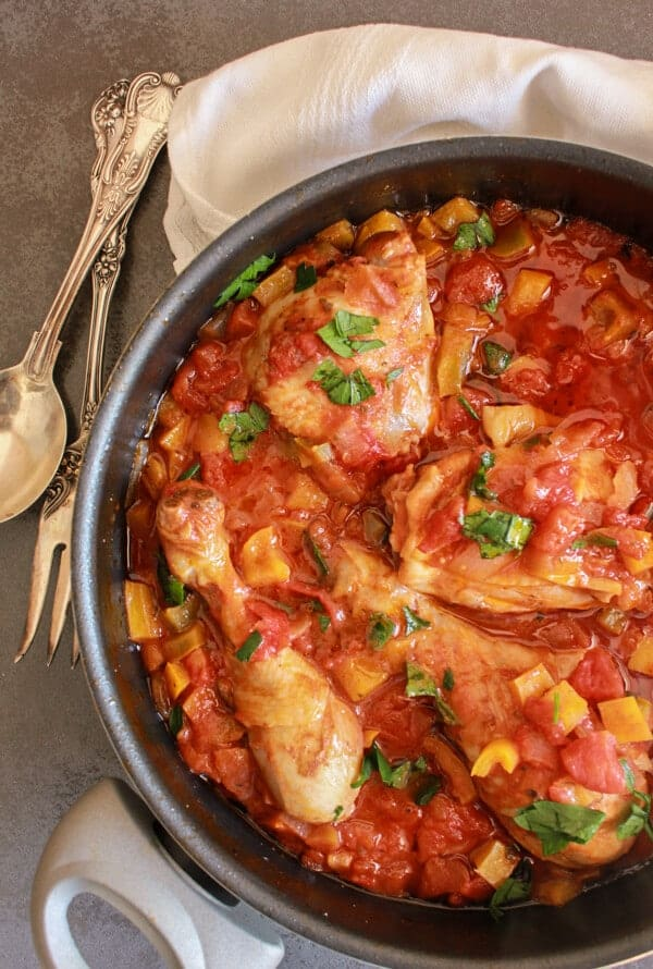 how to make chicken cacciatore easy