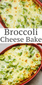 Broccoli Cheese Bake is a delicious creamy and cheesy broccoli casserole, the perfect side dish for any meal. #broccoli #casserole #cheese #side dish