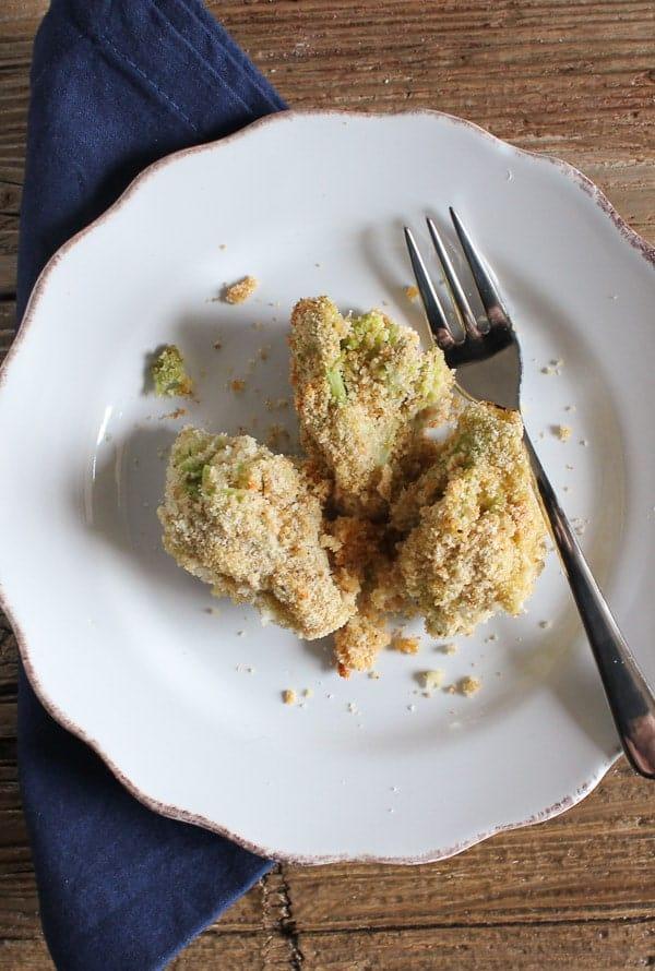 baked breaded broccoli/anitalianinmykitchen.com food blog