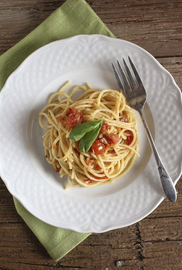 spaghetti e alici/anitalianinmykitchen.com