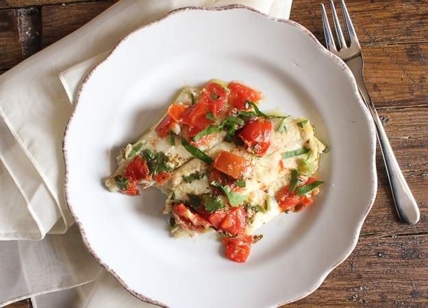 baked fish marinara/anitalianinmykitchen.com