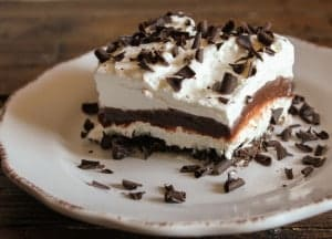 chocolate lasagna meets tiramisu
