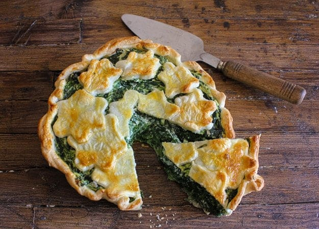 Spinach Ricotta Rustic Pie