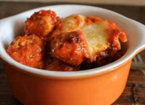 mini turkey meatball cheesy baked pasta