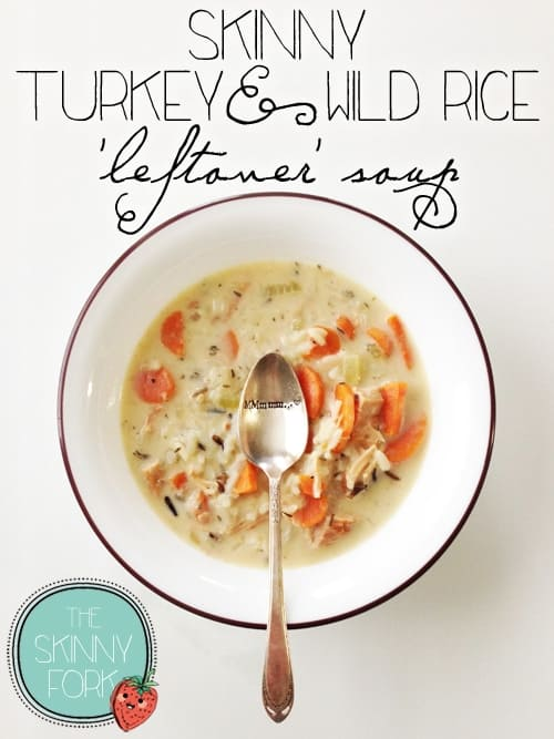 skinny turkey and wild rice soup