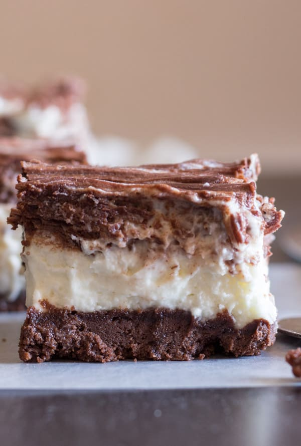 NoBake Nutella Cookie Crust Double Chocolate Cheesecake