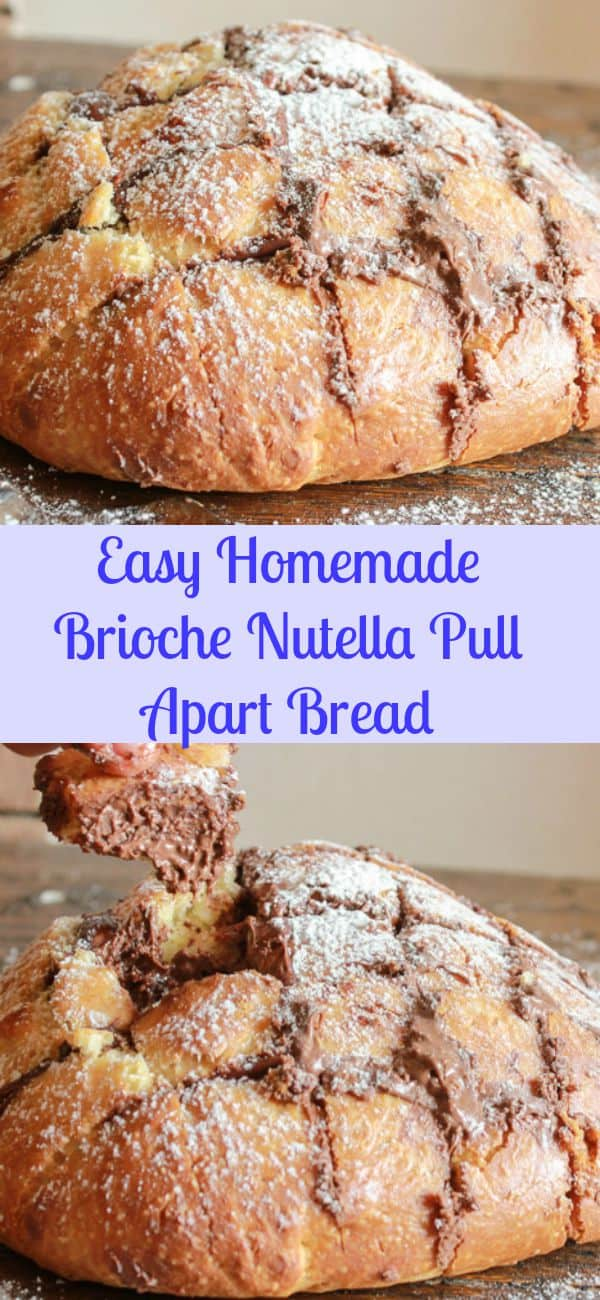 Easy Homemade Brioche Nutella Pull Apart Bread, a delicious dessert / snack Nutella pull apart bread, not too sweet, perfect for a get together/anitalianinmykitchen.com
