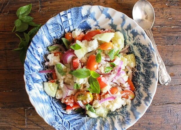 panzanella in a bowl
