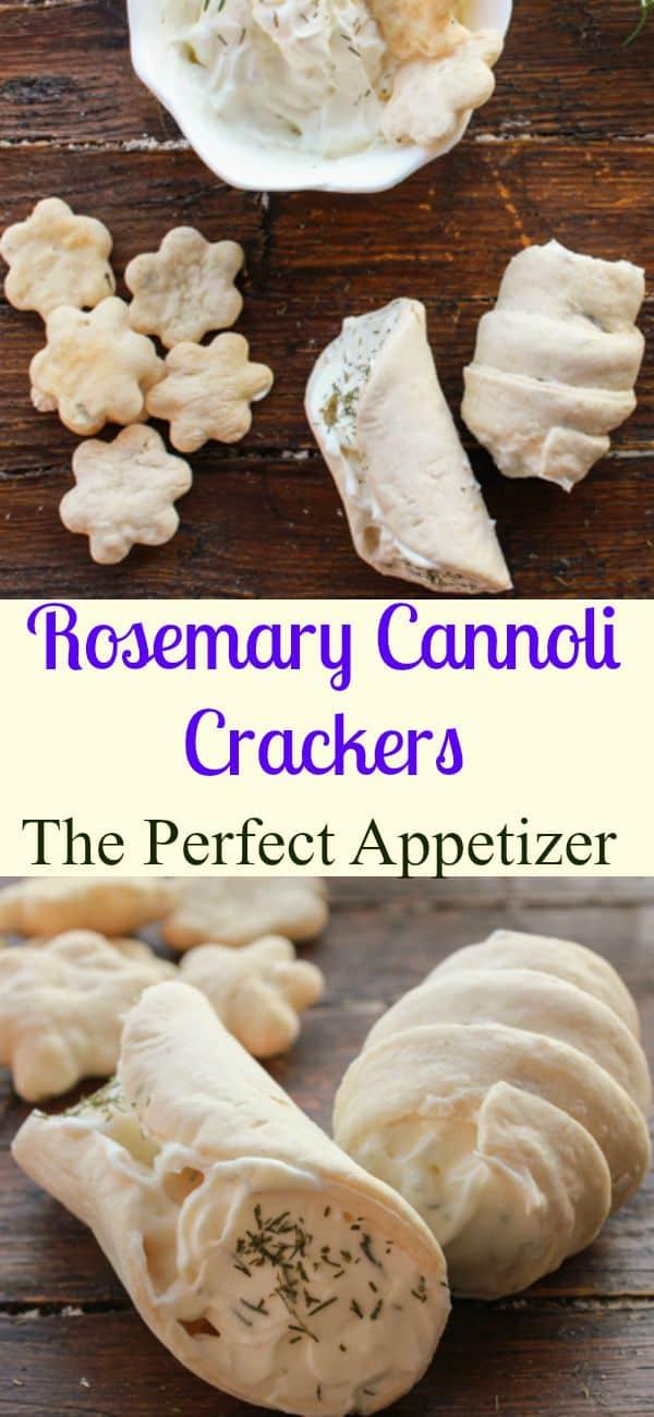 Rosemary Cannoli Crackers, homemade,easy, healthy, seasoned with rosemary cannoli crackers, stuff with cream cheese, the perfect appetizer./anitalianinmykitchen.com