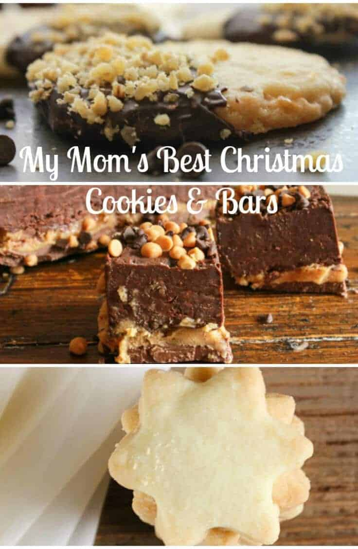 My Moms Best Christmas Cookies and Bars from shortbread, sugar cookies to jam bars and chocolate recipes, these are all our tried & true favorites.
