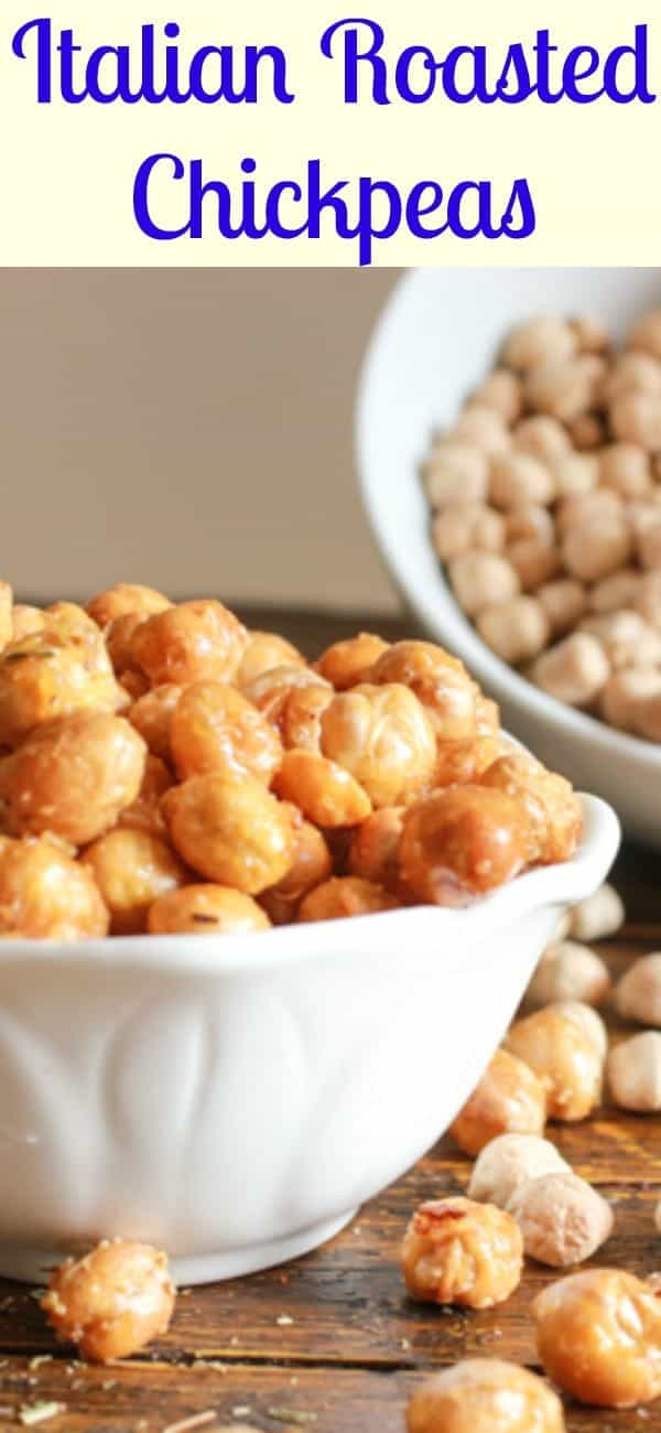 Italian Roasted Chickpeas, healthy, Parmesan oven roasted Chickpeas. The perfect crunchy anytime snack. The best roasted chickpea recipe.|anitalianinmykitchen.com