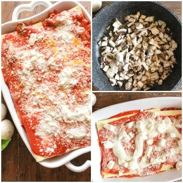 Creamy Mushroom Lasagna, an easy vegetarian lasagna recipe, simple creamy and perfect. The best lunch, dinner, family or guest dish.