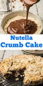 Italian Nutella Crumb Cake, easy delicious crumb cake recipe, filled with everyones favourite, Nutella. Perfect anytime, for kids and adults. #nutellapie #crostata #Italiandessert