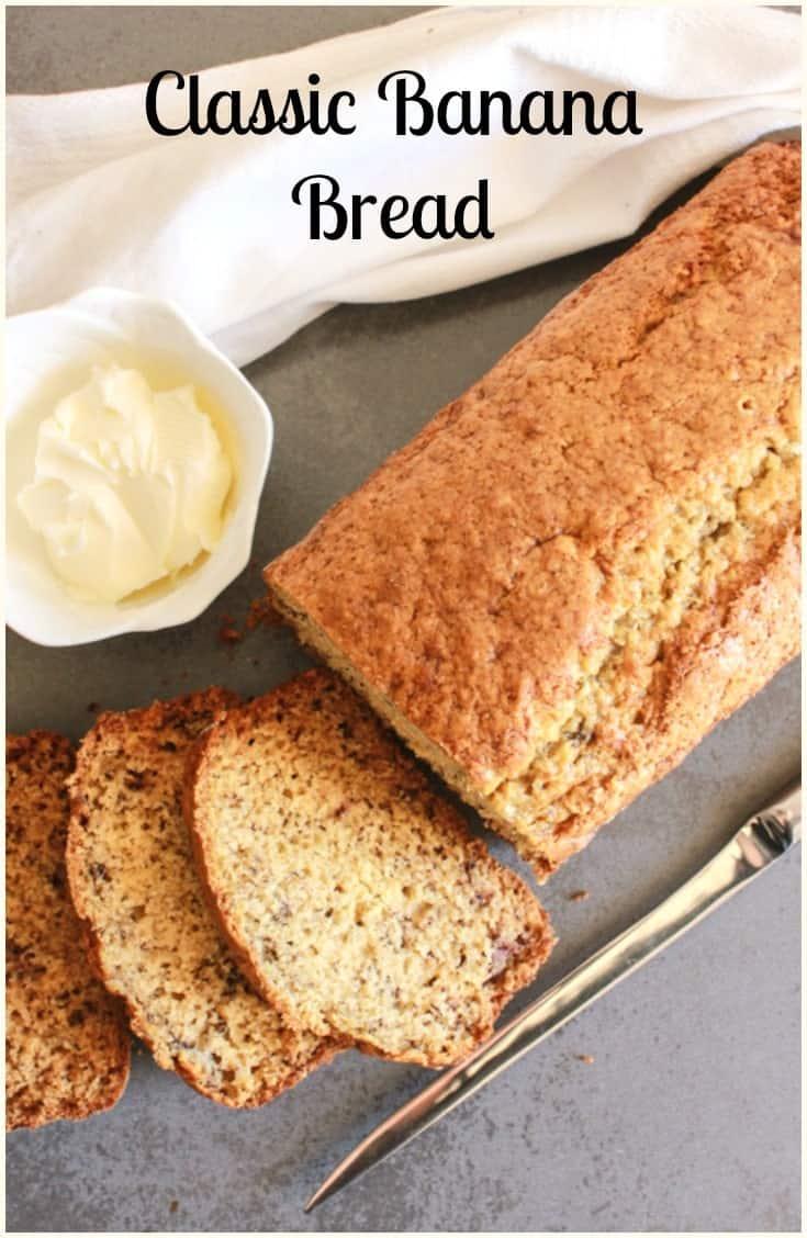 Classic Banana Bread a simple, easy, delicious sweet bread recipe for breakfast,snack or dessert. Greek yogurt & brown sugar make it perfect.