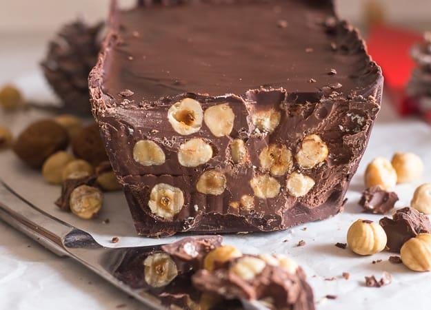 chocolate torrone one piece up close