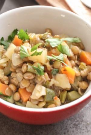 homemade Lentil Soup An Italian in my Kitchen www.anitalianinmykitchen.com