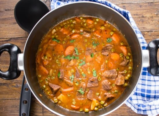 Chunky Thick Italian Beef Stew, an easy delicious healthy beef stew, Italian seasonings in a thick sauce, make it one of the best, Enjoy!|anitalianinmykitchen.com
