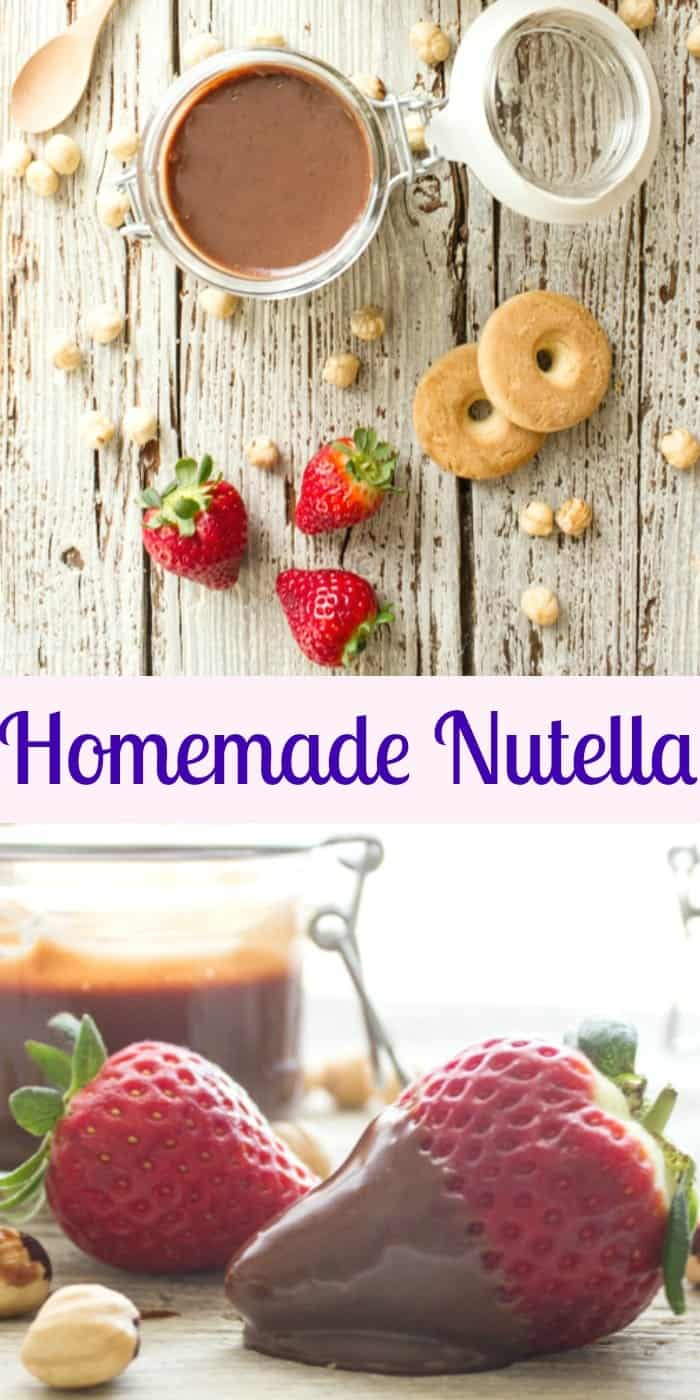 Homemade Nutella, a delicious creamy easy recipe. Made with dark chocolate, roasted hazelnuts, better than the original? You judge! anitalianinmykitchen.com