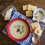 Creamy Potato Soup, an easy, creamy made with milk Homemade Potato soup recipe. The perfect comfort food, kids will love it. Delicious.