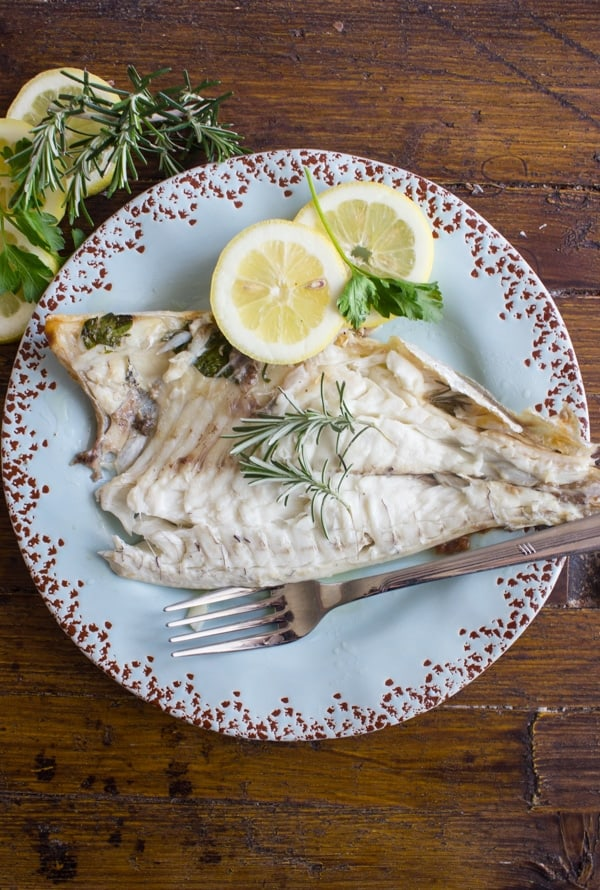 Baked Whole Gilt-Head Seabream or Trout